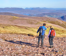 Looking north from An Teallach