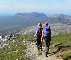 On Conival looking to Quinag